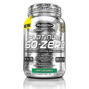MuscleTech Platinum 100 ISO Zero Isolate Protein Powder