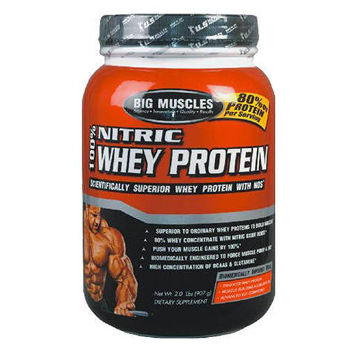 big muscles nitric whey protein