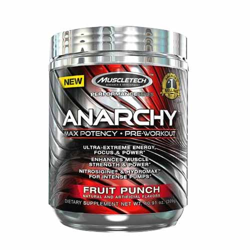 Muscletech anarchy pre workout powder