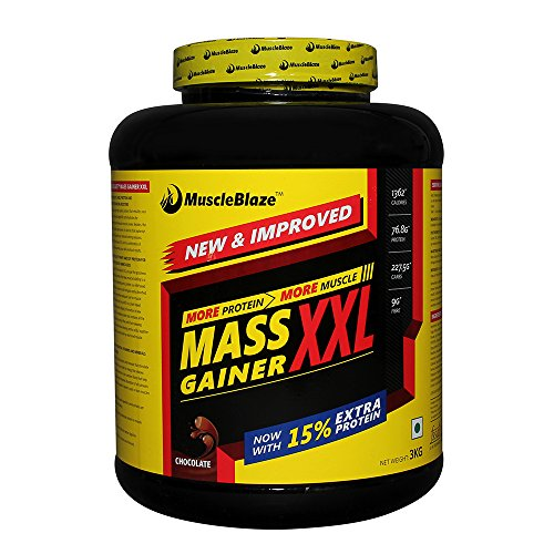 Muscleblaze mass gainer XXL chocolate 6.6lbs india